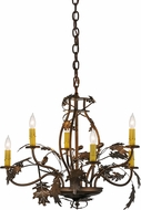 Meyda Tiffany 158572 Oak Leaf & Acorn Country Antique Coppper Chandelier Light