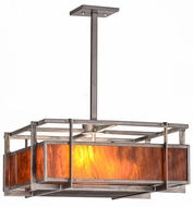 Meyda Tiffany 158678 Boulder Creek Contemporary Steel / Mica Pendant Lamp