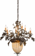 Meyda Tiffany 158685 Greenbriar Oak Rustic Tyler Bronze Hanging Chandelier