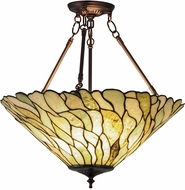 Meyda Tiffany 158688 Jadestone Willow Modern Flush Mount Lighting Fixture
