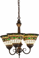 Meyda Tiffany 158700 Tiffany Roman Tiffany Mini Chandelier Light