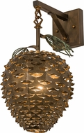 Meyda Tiffany 158943 Stoneycreek Pinecone Country Antique Copper Wall Lamp