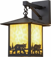 Meyda Tiffany 159118 Seneca Bear Creek Rustic Outdoor Wall Lighting Sconce