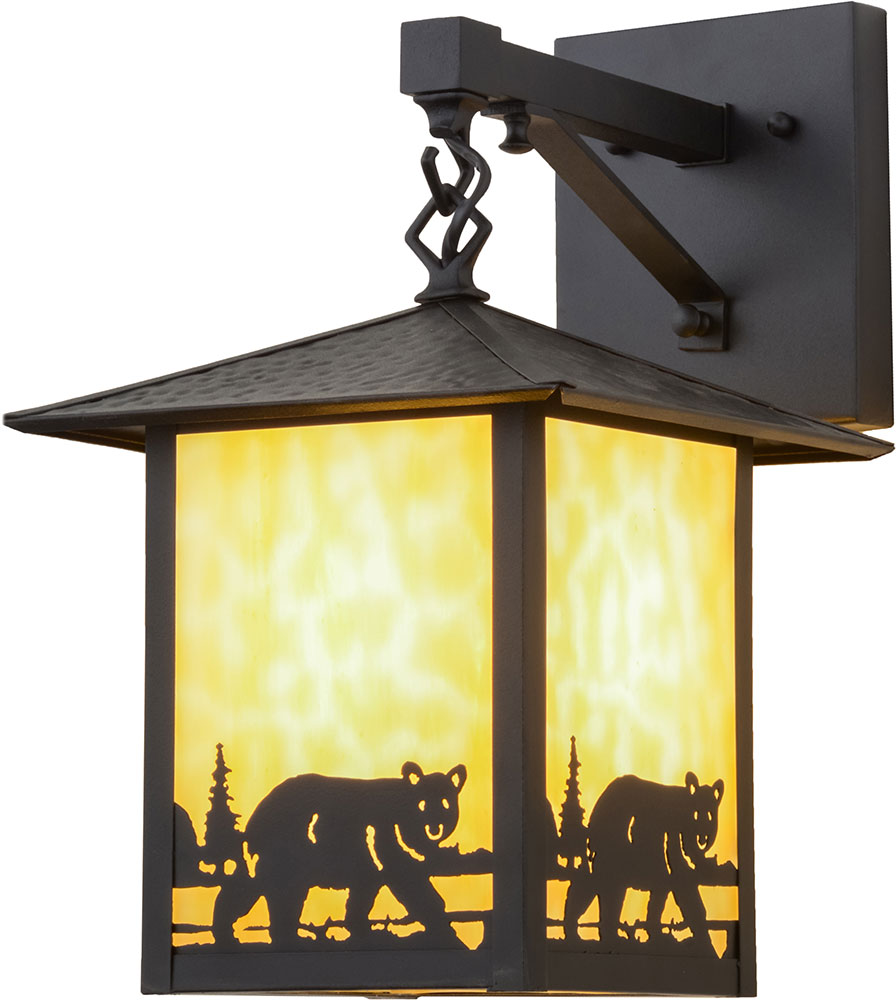 Meyda Tiffany 159118 Seneca Bear Creek Rustic Outdoor Wall Lighting Sconce - MEY-159118