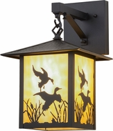 Meyda Tiffany 159119 Seneca Ducks in Flight Country Exterior Wall Sconce Lighting