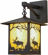 Meyda Tiffany 159120 Seneca Moose Creek Rustic Outdoor Wall Mounted Lamp