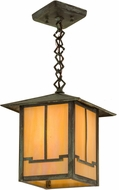 Meyda Tiffany 159220 Seneca Valley View Craftsman Bai Verd Pendant Lighting Fixture