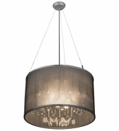 Meyda Tiffany 159261 Cilindro Shimmer Extreme Chrome Hanging Light