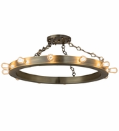 Meyda Tiffany 159274 Helm Contemporary Overhead Light Fixture
