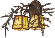 Meyda Tiffany 159315 Pine Branch Valley View Rustic Dark Burnished A/C Bai Halogen Wall Sconce