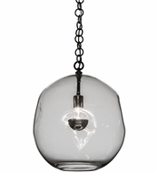 Meyda Tiffany 159332 Deformado Modern Polished Nickel Pendant Light Fixture