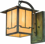 Meyda Tiffany 159390 Seneca Valley View Craftsman Bai Verd Outdoor Wall Lamp