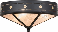 Meyda Tiffany 159465 Craftsman Target Black / Silver Mica Ceiling Light Fixture