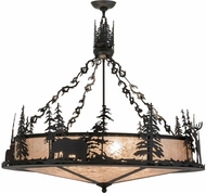 Meyda Tiffany 159469 Wildlife at Dusk Country Black / Silver Mica Pendant Hanging Light