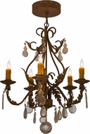 Meyda Tiffany 159601 French Elegance Pompeii Gold Chandelier Light