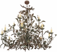 Meyda Tiffany 159623 Le Printemps Rustic Capri Chandelier Lighting