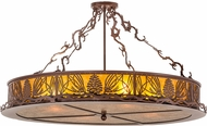 Meyda Tiffany 159669 Mountain Pine Country Rust / Amber Mica Flush Mount Light Fixture
