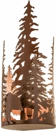 Meyda Tiffany 159806 Bear Through the Trees Rustic Rust Sconce Lighting