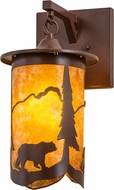 Meyda Tiffany 159813 Fulton Lone Bear Country Rust / Amber Mica Light Sconce