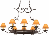 Meyda Tiffany 160119 Handforged Oil Rubbed Bronze Chandelier Lamp