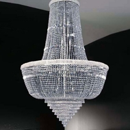Meyda Tiffany 160131 Osaka Empire Crystal / Chrome Chandelier Lighting