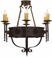 Meyda Tiffany 160259 Calandra Traditional Gilded Tobacco Ceiling Lighting