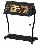 Meyda Tiffany 160403 Aulani Black/Spectrum Desk Lamp