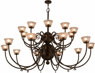 Meyda Tiffany 160553 Perennial Light Burnished Antique Copper Chandelier Lighting