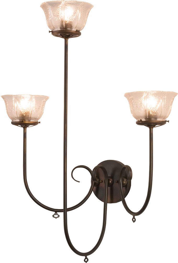 Meyda Tiffany 160555 Perennial Light Burnished Antique Copper Wall Lamp - MEY-160555