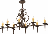 Meyda Tiffany 160713 Monica Gilded Tobacco Least Kitchen Island Lighting