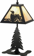 Meyda Tiffany 160843 Loon Country Black / Natural Horn Table Light