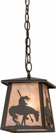Meyda Tiffany 160878 Trail's End Rustic Timeless Bronze / Silver Mica Mini Hanging Pendant Lighting