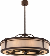 Meyda Tiffany 160883 Mahogany Bronze / Bleached Honey Onyx Hanging Pendant Light
