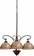 Meyda Tiffany 16107 Turning Leaf Tiffany Mahogany Bronze Mini Chandelier Lighting