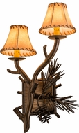 Meyda Tiffany 161368 Lone Pine Rustic Antique Copper Wall Mounted Lamp