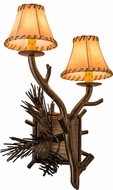 Meyda Tiffany 161370 Lone Pine Country Antique Copper Wall Light Sconce