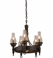 Meyda Tiffany 161543 Durango Retro Oil Rubbed Bronze Mini Lighting Chandelier
