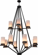 Meyda Tiffany 161802 Galen White Alabaster Outside Satin Textured Black Lighting Chandelier