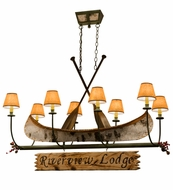 Meyda Tiffany 161863 Personalized Canoe Country Tarnished Copper Kitchen Island Light