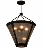 Meyda Tiffany 161879 Van Erp Black/Clear Seedy Glass Hanging Light Fixture