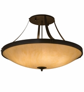 Meyda Tiffany 161899 Urban Timeless Bronze/Honey Onyx Acrylic Ceiling Light Fixture