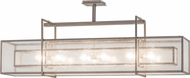 Meyda Tiffany 161946 Nelson Modern Clear Seedy Matte Clear Island Light Fixture