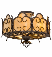 Meyda Tiffany 162099 Radha Chestnut Textured Flush Mount Lighting