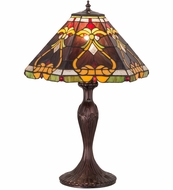 Meyda Tiffany 162203 Middleton Tiffany Mahogany Bronze Table Top Lamp