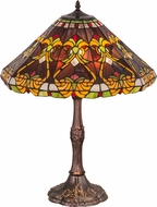 Meyda Tiffany 162204 Middleton Tiffany Mahogany Bronze Side Table Lamp