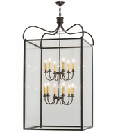 Meyda Tiffany 162296 Rennes Timeless Bronze/Clear Glass Foyer Lighting