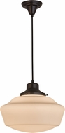 Meyda Tiffany 162310 Revival Schoolhouse Black Cord Cover Craftsman Drop Ceiling Lighting