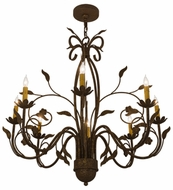 Meyda Tiffany 162407 Bordeaux Traditional Pompeii Gold Hanging Chandelier