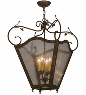Meyda Tiffany 162408 Terena Traditional Pompeii Gold/Clear Seedy Glass Ceiling Pendant Light