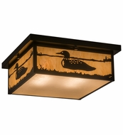 Meyda Tiffany 162409 Hyde Park Loon Flush Mount Ceiling Light Fixture
